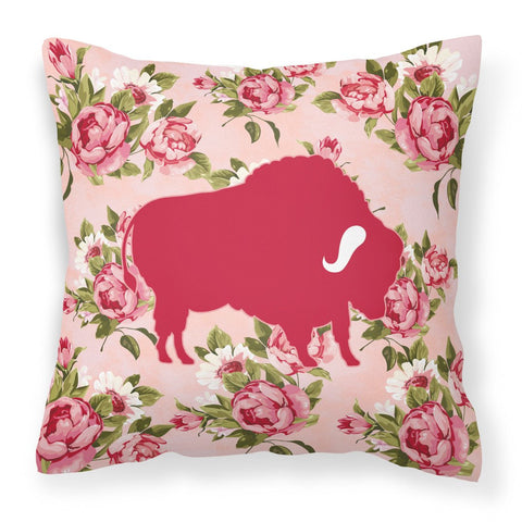 Buy this Buffalo Shabby Chic Pink Roses  Fabric Decorative Pillow BB1127-RS-PK-PW1414