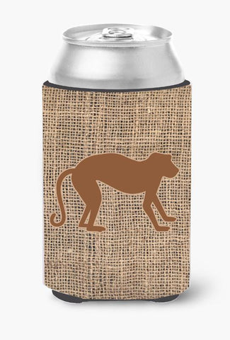 Buy this Monkey Burlap and Brown Can or Bottle Beverage Insulator Hugger