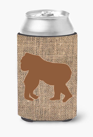 Buy this Gorilla Burlap and Brown Can or Bottle Beverage Insulator Hugger