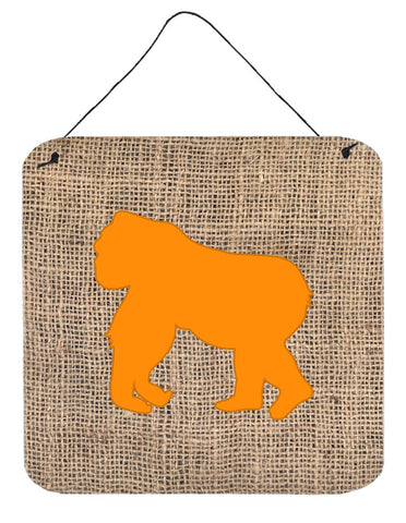 Buy this Gorilla Burlap and Orange Aluminium Metal Wall or Door Hanging Prints BB1129
