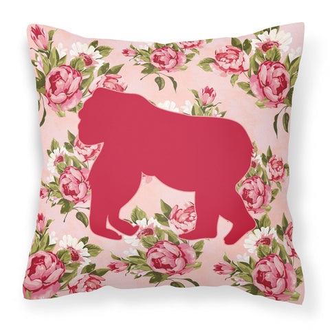 Buy this Gorilla Shabby Chic Pink Roses  Fabric Decorative Pillow BB1129-RS-PK-PW1414