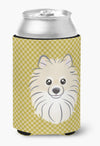 Buy this Tan Checkered Pomeranian Can or Bottle Hugger BB1135CC