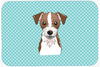 Checkerboard Blue Jack Russell Terrier Mouse Pad, Hot Pad or Trivet BB1140MP by Caroline's Treasures
