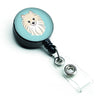 Checkerboard Blue Pomeranian Retractable Badge Reel BB1145BR by Caroline's Treasures