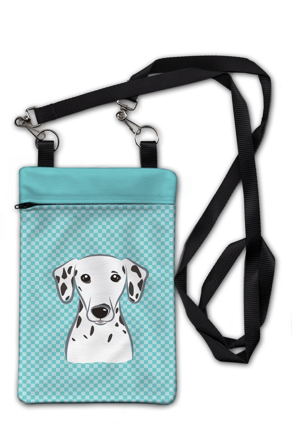Checkerboard Blue Dalmatian Crossbody Bag Purse BB1148OBDY by Caroline's Treasures