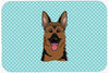 Checkerboard Blue German Shepherd Mouse Pad, Hot Pad or Trivet BB1149MP by Caroline's Treasures