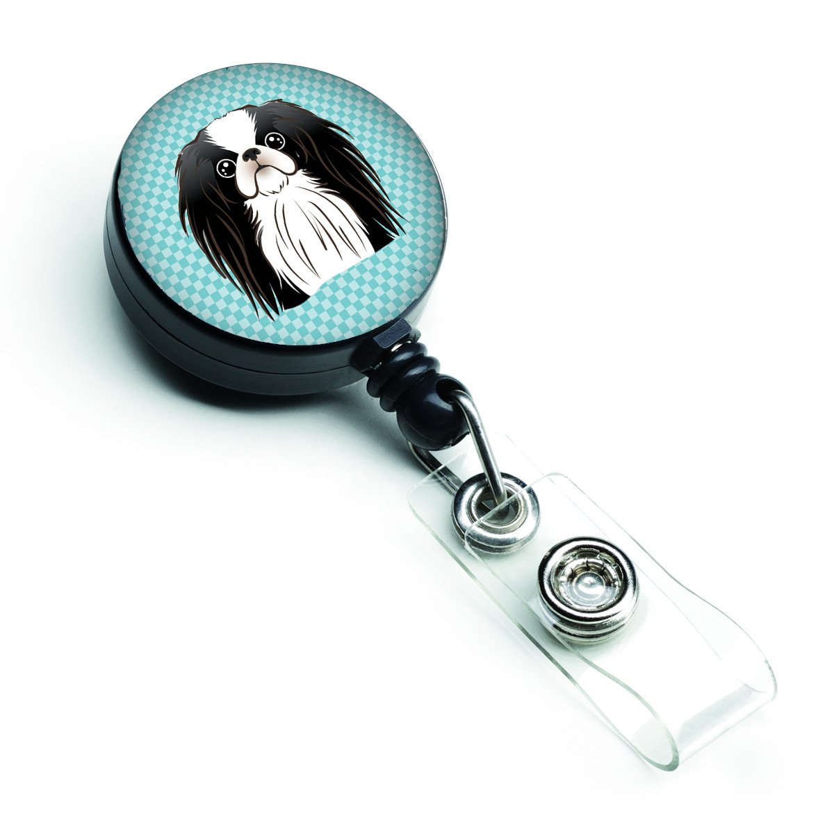 Checkerboard Blue Japanese Chin Retractable Badge Reel BB1168BR by Caroline's Treasures
