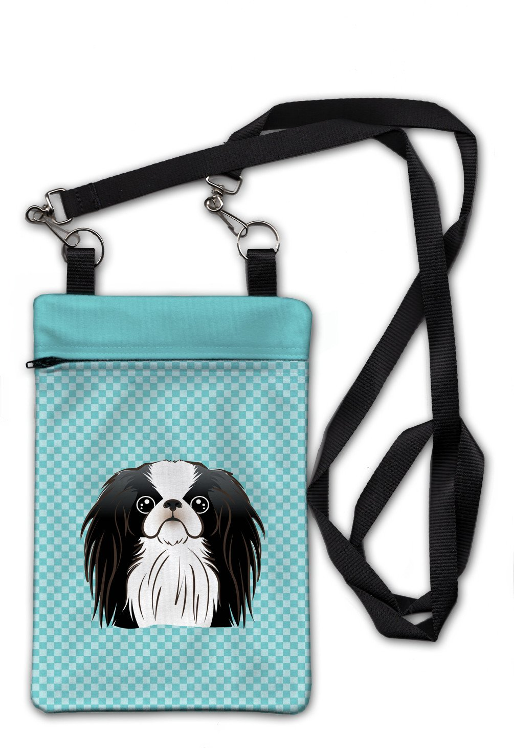 Checkerboard Blue Japanese Chin Crossbody Bag Purse BB1168OBDY by Caroline's Treasures
