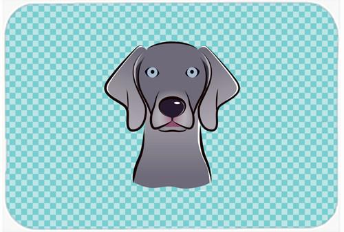 Checkerboard Blue Weimaraner Mouse Pad, Hot Pad or Trivet BB1169MP - the-store.com