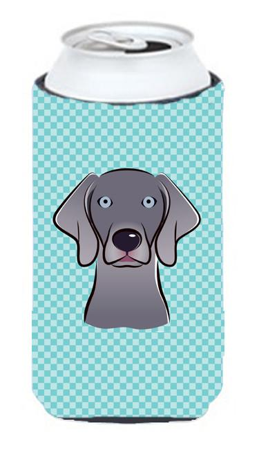 Checkerboard Blue Weimaraner Tall Boy Beverage Insulator Hugger BB1169TBC - the-store.com