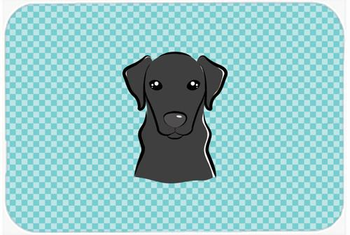 Checkerboard Blue Black Labrador Mouse Pad, Hot Pad or Trivet BB1173MP by Caroline's Treasures