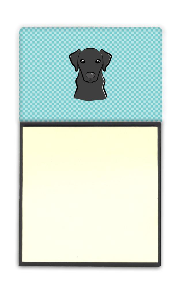 Checkerboard Blue Black Labrador Refiillable Sticky Note Holder or Postit Note Dispenser BB1173SN by Caroline's Treasures