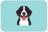 Checkerboard Blue Bernese Mountain Dog Mouse Pad, Hot Pad or Trivet BB1175MP by Caroline's Treasures