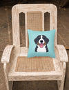 Checkerboard Blue Bernese Mountain Dog Canvas Fabric Decorative Pillow BB1175PW1414 - the-store.com