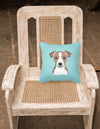 Checkerboard Blue Jack Russell Terrier Canvas Fabric Decorative Pillow BB1198PW1414 - the-store.com