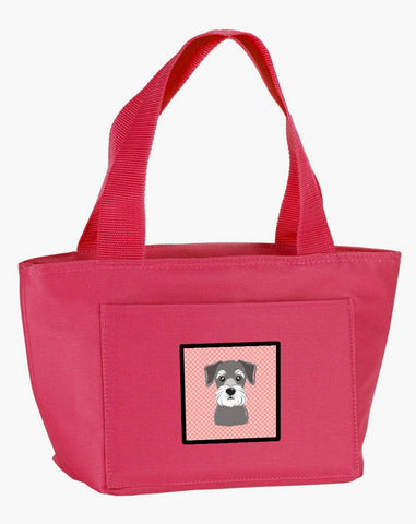 Buy this Checkerboard Pink Schnauzer Lunch Bag BB1206PK-8808