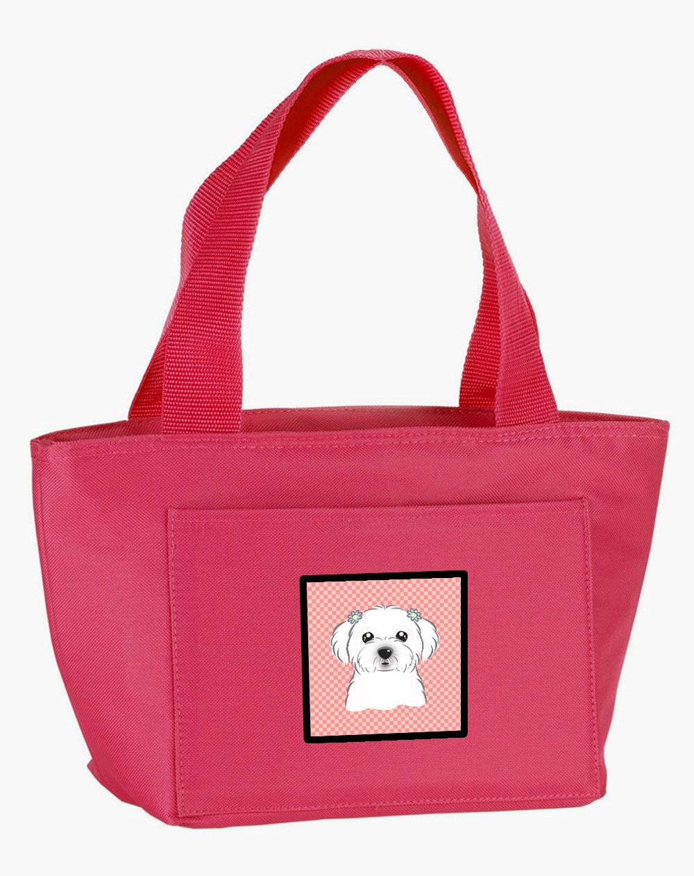 Checkerboard Pink Maltese Lunch Bag BB1208PK-8808 by Caroline's Treasures