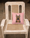 Checkerboard Pink German Shepherd Canvas Fabric Decorative Pillow BB1211PW1414 - the-store.com
