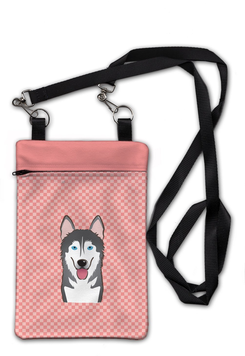 Checkerboard Pink Alaskan Malamute Crossbody Bag Purse BB1218OBDY by Caroline's Treasures