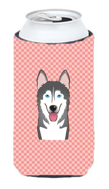 Checkerboard Pink Alaskan Malamute Tall Boy Beverage Insulator Hugger BB1218TBC by Caroline's Treasures