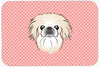Checkerboard Pink Pekingese Mouse Pad, Hot Pad or Trivet BB1221MP by Caroline's Treasures
