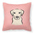 Buy this Checkerboard Pink Yellow Labrador Canvas Fabric Decorative Pillow
