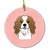 Checkerboard Pink Cavalier Spaniel Ceramic Ornament BB1224CO1 by Caroline's Treasures