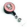 Checkerboard Pink Saluki Retractable Badge Reel BB1229BR by Caroline's Treasures