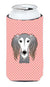 Checkerboard Pink Saluki Tall Boy Beverage Insulator Hugger BB1229TBC by Caroline's Treasures
