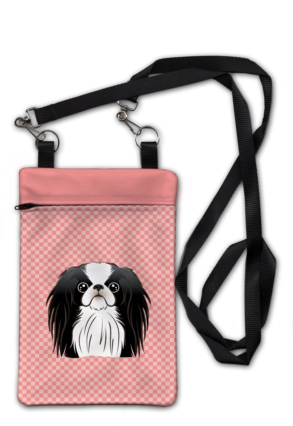 Checkerboard Pink Japanese Chin Crossbody Bag Purse BB1230OBDY by Caroline's Treasures