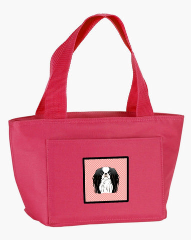 Buy this Checkerboard Pink Japanese Chin Lunch Bag BB1230PK-8808