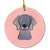 Buy this Checkerboard Blue Weimaraner Ceramic Ornament
