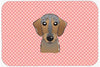 Checkerboard Pink Wirehaired Dachshund Mouse Pad, Hot Pad or Trivet BB1233MP by Caroline's Treasures
