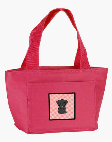 Buy this Checkerboard Pink Black Labrador Lunch Bag BB1235PK-8808