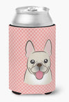 Checkerboard Pink French Bulldog Can or Bottle Hugger BB1238CC by Caroline's Treasures
