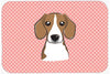 Checkerboard Pink Beagle Mouse Pad, Hot Pad or Trivet BB1239MP by Caroline's Treasures