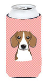 Checkerboard Pink Beagle Tall Boy Beverage Insulator Hugger BB1239TBC by Caroline's Treasures
