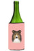 Checkerboard Pink Sheltie Wine Bottle Beverage Insulator Hugger BB1242LITERK by Caroline's Treasures
