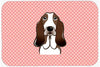 Checkerboard Pink Basset Hound Mouse Pad, Hot Pad or Trivet BB1243MP by Caroline's Treasures