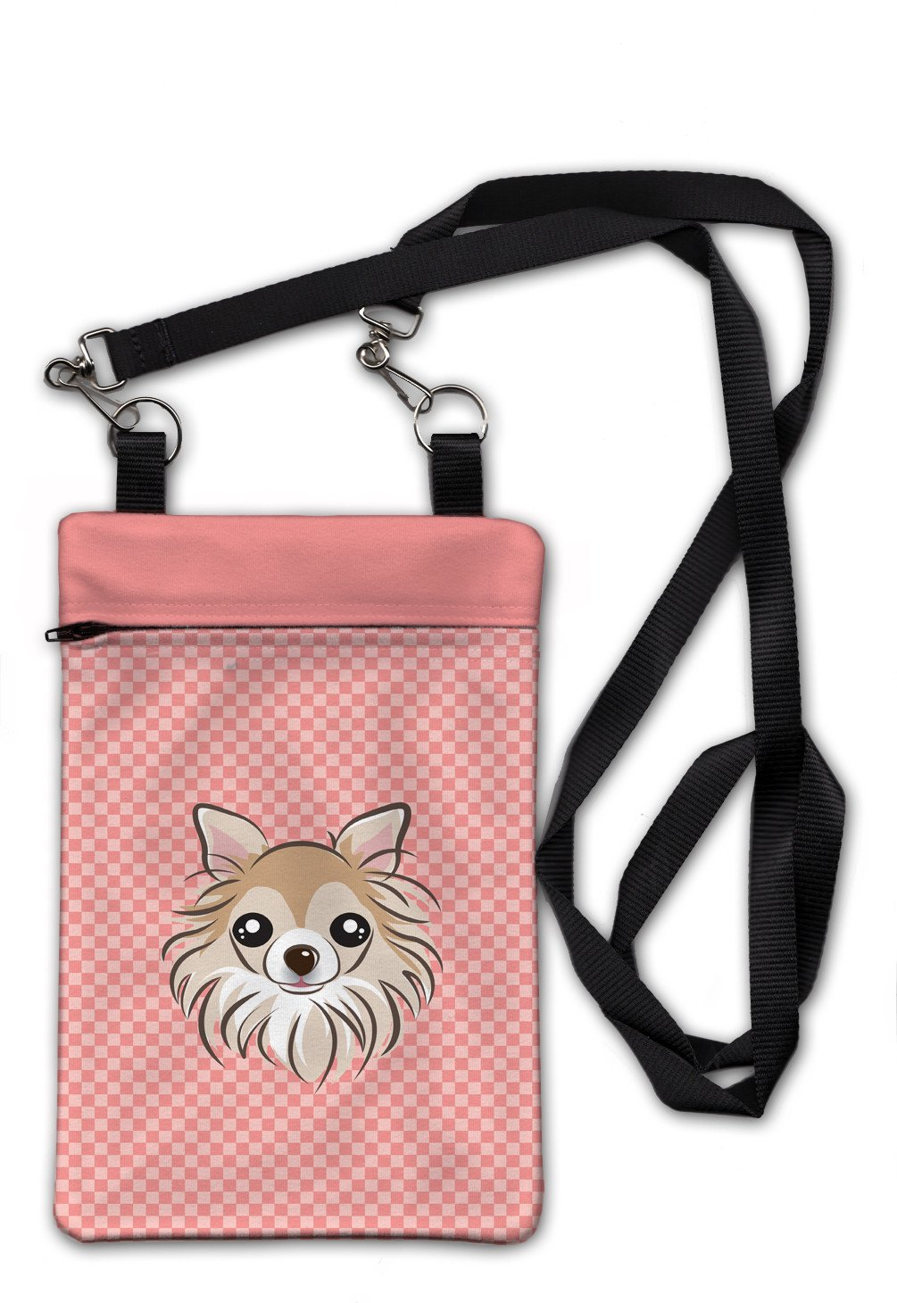 Checkerboard Pink Chihuahua Crossbody Bag Purse BB1251OBDY by Caroline's Treasures