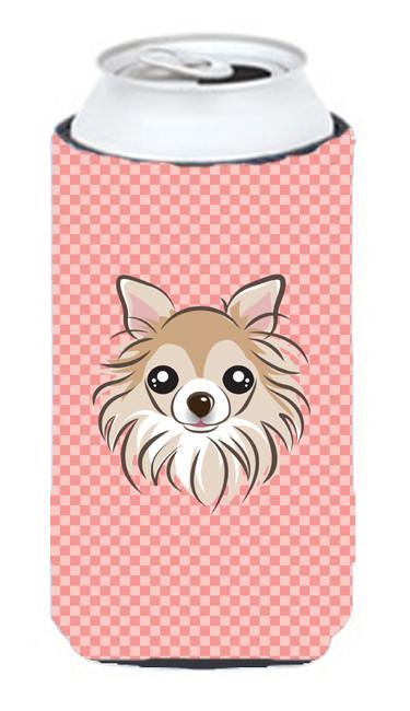Checkerboard Pink Chihuahua Tall Boy Beverage Insulator Hugger BB1251TBC by Caroline's Treasures