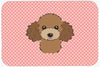 Checkerboard Pink Chocolate Brown Poodle Mouse Pad, Hot Pad or Trivet BB1256MP by Caroline's Treasures