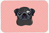 Checkerboard Pink Black Pug Mouse Pad, Hot Pad or Trivet BB1263MP by Caroline's Treasures