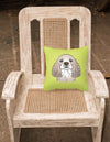 Checkerboard Lime Green Cocker Spaniel Canvas Fabric Decorative Pillow BB1278PW1414 - the-store.com