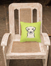 Checkerboard Lime Green Yellow Labrador Canvas Fabric Decorative Pillow BB1284PW1414 - the-store.com