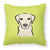 Buy this Checkerboard Lime Green Yellow Labrador Canvas Fabric Decorative Pillow