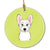 Buy this Checkerboard Lime Green Westie Ceramic Ornament