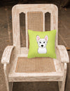 Checkerboard Lime Green Westie Canvas Fabric Decorative Pillow BB1288PW1414 - the-store.com