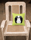 Checkerboard Lime Green Japanese Chin Canvas Fabric Decorative Pillow BB1292PW1414 - the-store.com