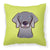 Buy this Checkerboard Lime Green Weimaraner Canvas Fabric Decorative Pillow